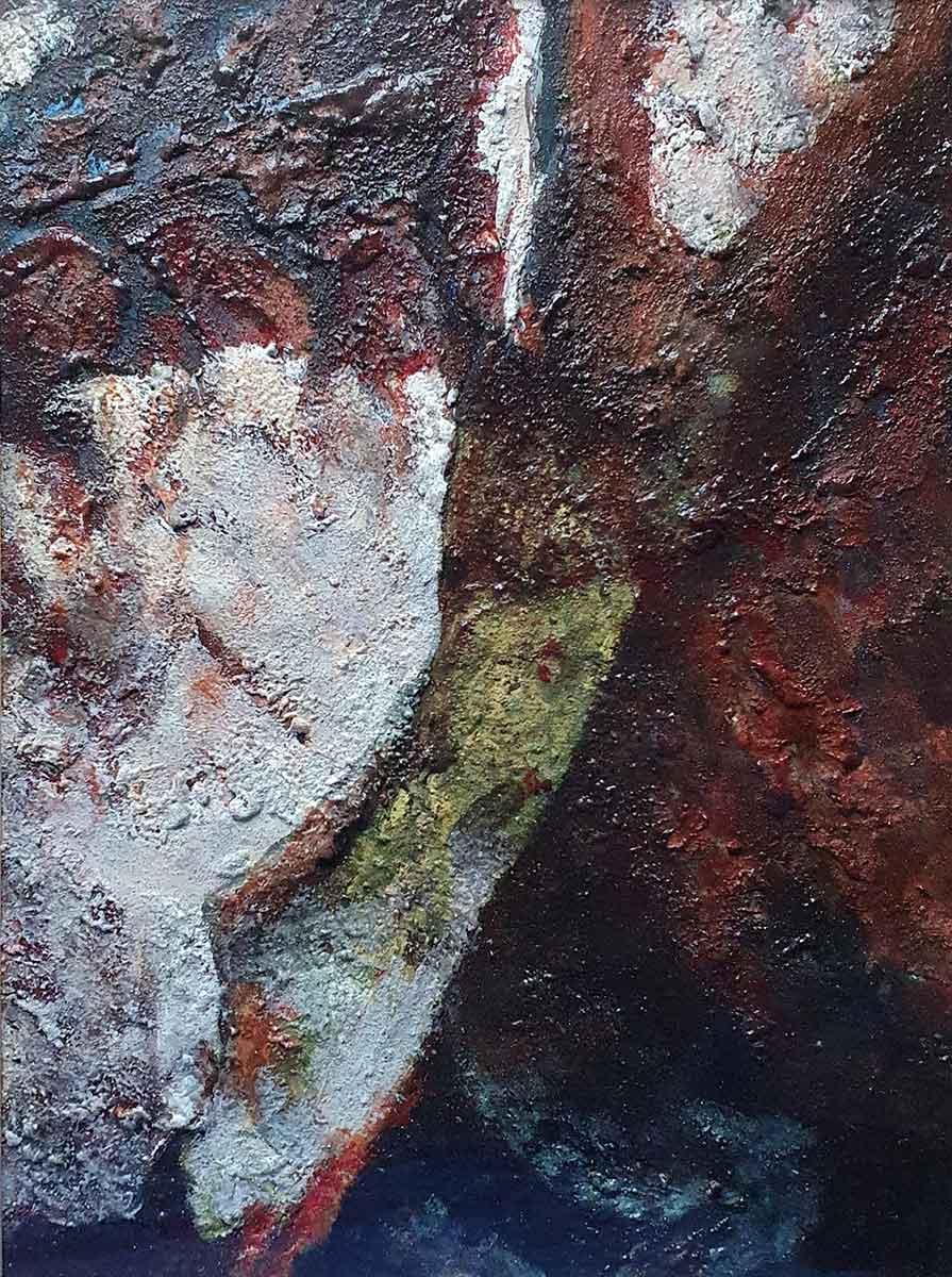 'Rich Shadows', mixed media, 50cm x 37cm